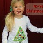 Mod Podge no-sew Christmas shirt using a photo transfer