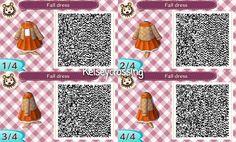 ACNL-Autumn Dress with Scarf