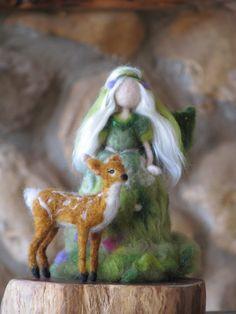 Waldorf inspired Needdle felted Woodland fairy Art doll by Made4uByMagic on Etsy https://www.etsy.com/listing/202090355/waldorf-inspired-needdle-felted-woodland