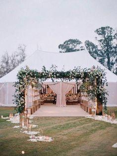 Green Wedding, Fall Wedding, Wedding Ceremony, Trendy Wedding, Party Wedding, Wedding Table, Wedding Flowers, Wedding Entrance, Entrance Decor