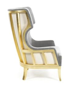 Soft & Creamy armchair by Munna Gold Furniture, Design Furniture, Home Decor Furniture, Corner Sofa Design, Chair Design, Upholstery Cushions, Upholstered Furniture, Funky Chairs, Sofa Frame