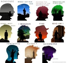 Silhouettes and sayings.