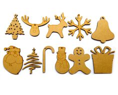 Our laser cut Christmas shapes come in a pack of 11. from 85mm to 100mm range  Buy on amazon http://www.amazon.co.uk/gp/product/B00OKBCZ80