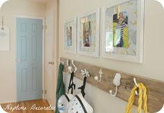 Naptime Decorator: More Free Art: Frames Above the DIY Coat Rack