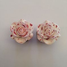 Bloody Rose Ear Plugs by TeacupRose on Etsy https://www.etsy.com/listing/161483490/bloody-rose-ear-plugs