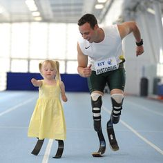 Oscar Pistorius of South Africa - 2012 Olympian. Maybe my favorite of all the recent photos of Olympians. He's Oscar Pistorius of South Africa. She's Ellie, she's and she got to race him. She won all four times. Oscar Pistorius, Great Quotes, Quotes To Live By, Inspirational Quotes, Motivational Quotes, Life Quotes, Awesome Quotes, Fabulous Quotes, Random Quotes