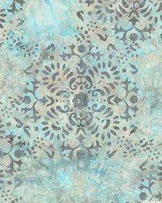 Falling Fresco Batik - Dawn Blue