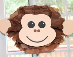 Monkey pom pom kit king of the jungle safari noahs ark carnival circus baby shower first birthday party decoration Safari Jungle, Deco Jungle, Safari Party, Jungle Theme, Jungle Party, First Birthday Party Decorations, First Birthday Parties, First Birthdays, Birthday Ideas