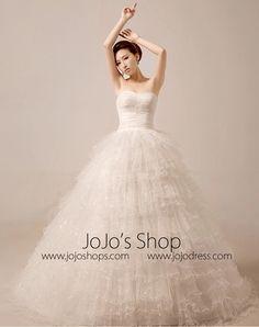 2 Piece Tiered Ball Gown Debutante Wedding Dress | MX5016