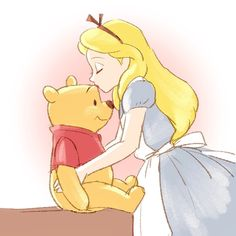 Pooh and Alice in Wonderland