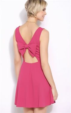 Deb Shops Texture Knit #Skater #Dress with Bow Back $35.00