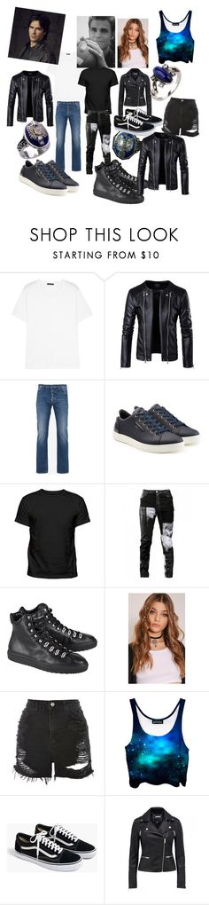 """""""Being the Salvatore's little sister"""" by firecutie ❤ liked on Polyvore featuring Acne Studios, Maison Margiela, Dolce&Gabbana, Any Old Iron, Dsquared2, Topshop and J.Crew"""