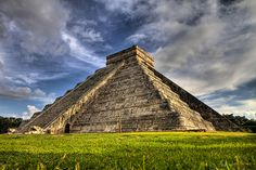 El Castillo, Chitzen-Itza in Mexico.  We got to climb to the top of this pyramid, the steps were so tiny that you had to turn your feet sideways.  It was more work going down then up.  My legs hurt so much the next day, what a great workout.  I don`t think they allow visiters to climb this pyramid anymore.