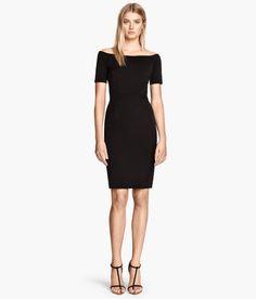 H&M off the shoulder black dress