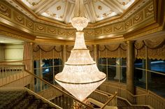 Another fabulous chandelier at Martin's Caterers! {Martin's Caterers}