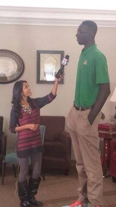 Has he finished growing I wonder? He stands at an astonishing 228 centimetres - a full eight centimetres taller than the TALLEST player in the NBA. He has just signed with the University of Central Florida. http://www.foxsports.com.au/what-the-fox/schoolboy-tacko-fall-is-228-centimetres-tall-and-headed-to-college-basketball/story-fnn4peyo-1227122160471