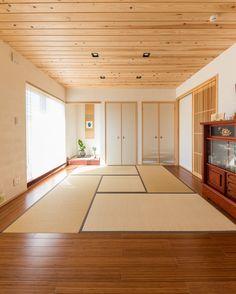 Japanese Home Design, Traditional Japanese House, Japanese Interior, Japanese Buildings, Japanese Architecture, Modern Architecture, Japanese Living Rooms, Japanese Bedroom, Japan Room