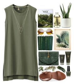 """""""Just Retreat"""" by ladyvalkyrie ❤ liked on Polyvore featuring Uniqlo, TokyoMilk, Taschen, Panier des Sens, OPI, OKA and House of Harlow 1960"""