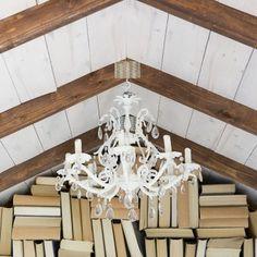 She Shed ideas -  | DIY Gable Bookshelf