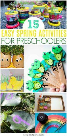easy spring activities for preschoolers #spring #kidsactivities #preschool #preschoolers