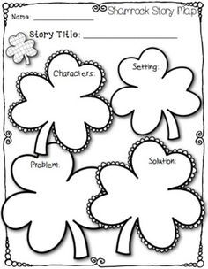 Once the week starts, I know I won't have time to post the story map I created!) This shamrock-themed st. Story Maps, Education And Literacy, Teaching Schools, Reading Logs, Reading Groups, School Fun, School Stuff, School Ideas, First Grade Classroom