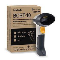 [Bluetooth/cable]Inateck lecteur code barre sans fil douchette usb laser code barre scanner USB 2.0 bluetooth compatible Windows, Android 4.0 et 4.1 IOS fonctionne avec smartphone linux mac