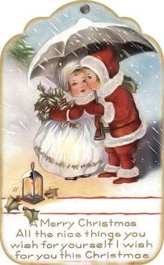 Brocante Brie, kerstlabel Images Vintage, Vintage Christmas Images, Vintage Holiday, Christmas Pictures, Vintage Greeting Cards, Vintage Postcards, Christmas Graphics, Christmas Gift Tags, Christmas Greeting Cards