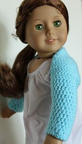 Ravelry: Ballet Shrug for American Girl or 18 inch doll pattern by Lauraslefthook