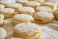 sponge kisses … – ([{ the_food_artisan }]) Sponge Recipe, Sponge Cake Recipes, Baking Recipes, Cookie Recipes, Dessert Recipes, Desserts, Baking Pies, Kisses Recipe, Ricotta Cake