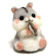 CHICVITA Diy Needlecrafts Needle Felting Character Kits:Hamster