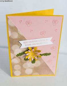 Blog: www.bastelkunst.blogspot.de  FB: Bastelkunst  Karte, Geburtstag, Glückwunsch, Stampin Up, Sukkulente Akzente, Designerpapier