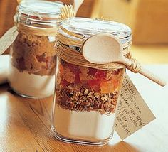Cake in a jar - easy, cheap, and creative birthday present!