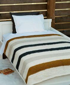 "Hand-Made Blanket - Bulky Multi Stripe  About W 40"" x L 48"" (W 102 x L 123 cm) $550.00  50% Alpaca & 50% Wool  Yarn from Peru"