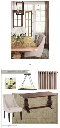 Copy Cat Chic Room Redo   Trestle Table Dining Room   Get the look for only $1,867