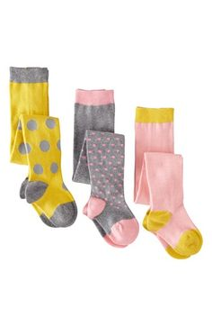 Mini Boden Patterned Tights (3-Pack) (Baby Girls & Toddler Girls) | Nordstrom