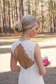 open back wedding dress. Absolutely positively couldn't be more in love with this!!!