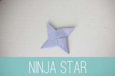How To Make Paper Ninja Stars - perfect for rainy day fun!