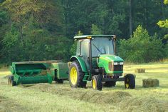 John Deere Tractor and Square Baler
