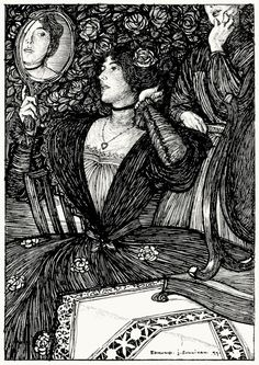 Lady Flora.  Edmund J. Sullivan, from The graphic arts of Great Britain, by Malcolm C. Salaman & Charles Holme, London, Paris, New York, 1917.  (Source: archive.org)
