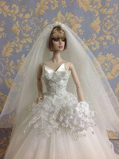 Bestty Doll Gown Outfit Dress Fashion Royalty Silkstone Barbie Model Doll Fr | eBay
