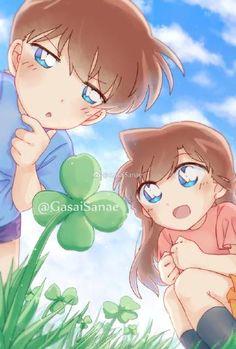 微博 Ran And Shinichi, Kudo Shinichi, Anime Chibi, Manga Anime, Anime Art, Conan, Detective, Vocaloid Cosplay, Kawaii