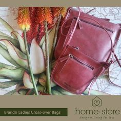 Visit Home-Store and be delighted by flawless design, efficient service and premium quality at prices that will fit your pocket. New stock just unpacked, Brando Leather Ladies Crossover bags available in 2 sizes and three colourways. Leather Backpack, Leather Bag, Crossover Bags, Fashion Backpack, Pocket, Store, Lady, Fit, Accessories