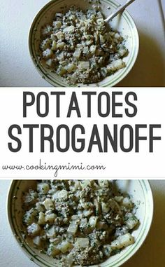 Potatoes Stroganoff was inspired by my grandmother's recipe for Hamburger Stroganoff for a #SundaySupper celebrating grandparents. This one dish meal can be on your supper table in about 30 minutes.
