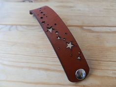 Cuff Bracelet Leather Stars