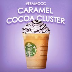 From Milan to your mouth with the Caramel Cocoa Cluster Frappuccinopinterest
