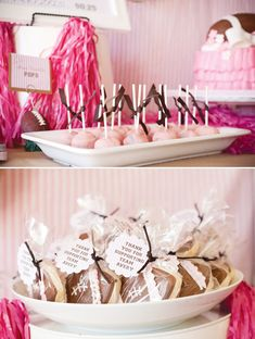 Girly & Pink Powder Puff Football Party // Hostess with the Mostess®