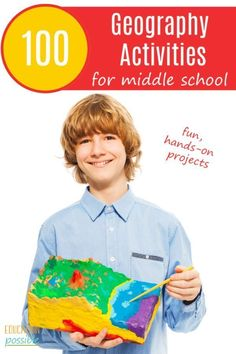 If you've ever wondered how to make geography more interactive, this list of 100 hands-on geography activities for middle school is perfect for you. Kids don't want to work on middle school geography Geography Games For Kids, Hands On Geography, Geography Lesson Plans, Geography Classroom, Geography Worksheets, Geography Activities, Teaching Geography, Teaching History, Learning Activities