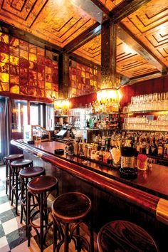The American Bar in Vienna by Adolf Loos