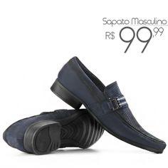Sapato Social Masculino em Couro Nobuck legítimo de R$150,00 por R$99,99! Compre Online