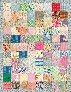 a simple quilt with vintage inspired fabric.